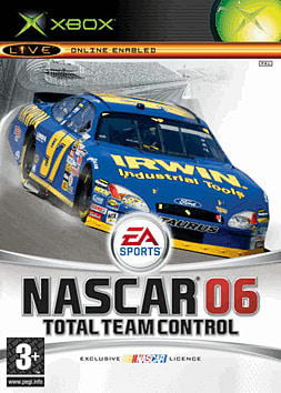 NASCAR 06: Total Team Control Xbox Cover Art