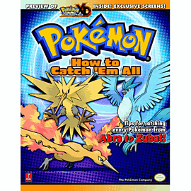 Pokémon How to Catch 'Em All Guide Strategy Guides and Books