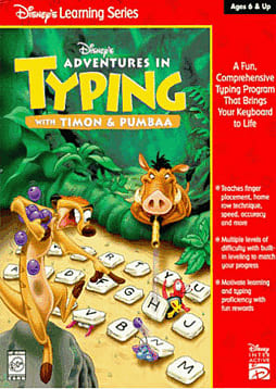 Disney's Adventures in Typing with Timon and Pumbaa PC Games and Downloads Cover Art