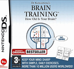 Dr. Kawashima's Brain Training: How Old Is Your Brain? DSi and DS Lite Cover Art