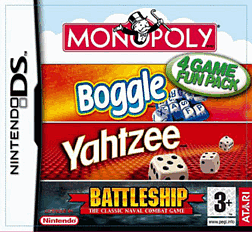 Hasbro Compilation: Monopoly/Boggle/Yahtzee/Battleship DSi and DS Lite Cover Art