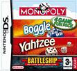 Hasbro Compilation: Monopoly/Boggle/Yahtzee/Battleship DSi and DS Lite