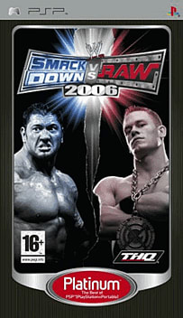 WWE Smackdown! vs RAW 2006 - Platinum PSP Cover Art