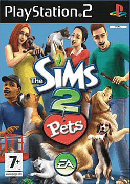 The Sims 2 Pets PlayStation 2 Cover Art