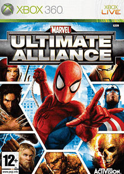 Marvel: Ultimate Alliance Xbox 360 Cover Art