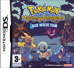 Pokemon Mystery Dungeon: Blue Rescue Team DSi and DS Lite Cover Art