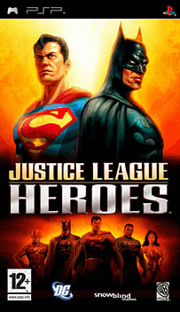 Justice League Heroes PSP Cover Art