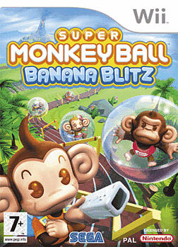 Super Monkey Ball: Banana Blitz Wii Cover Art