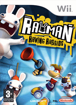 Rayman Raving Rabbids Wii Cover Art
