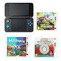 Black Wii U Premium Console with GAMEware Wii U Starter Pack and New Super Mario Bros U
