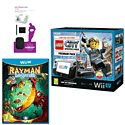 Black Wii U Premium with LEGO City: Undercover, GAMEware Starter Pack and Rayman Legends