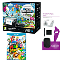 Black Wii U Mario and Luigi Premium Pack with GAMEware Starter Pack and Super Mario 3D World