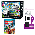 Black Wii U Mario and Luigi Premium Pack with GAMEware Starter Pack and LEGO Marvel Super Heroes