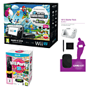 Black Wii U Mario and Luigi Premium Pack with GAMEware Starter Pack and Wii Party U