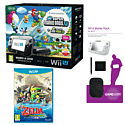 Black Wii U Mario and Luigi Premium Pack with GAMEware Starter Pack and The Legend of Zelda: The Wind Waker HD