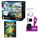 Black Wii U Mario and Luigi Premium Pack with GAMEware Starter Pack and Rayman Legends