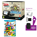 Black Wii U with Legend of Zelda: Wind Waker HD, GAMEware Starter Pack and Super Mario 3D World