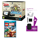 Black Wii U with Legend of Zelda: Wind Waker HD, GAMEware Starter Pack and LEGO Marvel Super Heroes