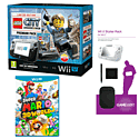 Black Wii U Premium with LEGO City: Undercover, GAMEware Starter Pack and Super Mario 3D World