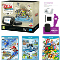 Black Wii U Zelda Pack, Sports Connection, Mario & Sonic at the Sochi 2014 Winter Olympics & Super Mario 3D World