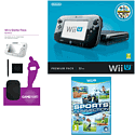 Black Wii U Premium with Nintendo Land, GAMEware Starter Pack and Sports Connection