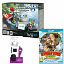 Black Wii U Premium with Mario Kart 8, Donkey Kong Country: Tropical Freeze and Wii U Starter Pack