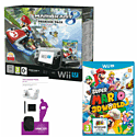 Black Wii U Premium with Mario Kart 8, Super Mario 3D World and Wii U Starter Pack