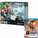 Black Wii U Premium with Mario Kart 8 and Hyrule Warriors