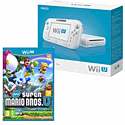 White Wii U Basic with New Super Mario Bros U