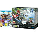 Black Wii U Premium with Mario Kart 8, Super Smash Bros, Wii U Screen Protection Kit and Wii U Game Pad Silicon Skin