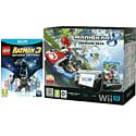 Black Wii U Premium with Mario Kart 8, LEGO Batman 3, Wii U Screen Protection Kit and Wii U Game Pad Silicon Skin
