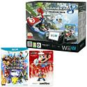 Black Wii U Premium with Mario Kart 8, Super Smash Bros and Mario amiibo