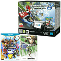 Black Wii U Premium with Mario Kart 8, Super Smash Bros and Link amiibo
