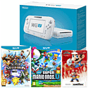 White Wii U Basic with New Super Mario Bros U, Super Smash Bros and  Mario amiibo