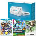 White Wii U Basic with New Super Mario Bros U, Super Smash Bros and  Link amiibo