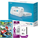 White Wii U Basic with Mario Kart 8, GAMEware Wii U Screen Protection Kit & GAMEware Wii U Game Pad Silicon Skin