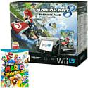 Black Wii U Premium with Mario Kart 8 and Super Mario 3D World
