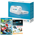 White Wii U Basic with Mario Kart 8 and Mario Kart 8 Season Pass