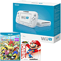 White Wii U Basic with Mario Party 10 and Classic Collection Mario amiibo