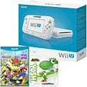 White Wii U Basic with Mario Party 10 and Classic Collection Yoshi amiibo