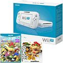 White Wii U Basic with Mario Party 10 and Classic Collection Bowser amiibo