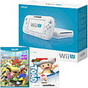 White Wii U Basic with Mario Party 10 and Classic Collection Toad amiibo
