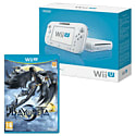 White Wii U Basic with Bayonetta 2