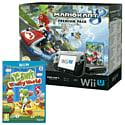 Black Wii U Premium with Mario Kart 8 and Yoshi's Woolly World