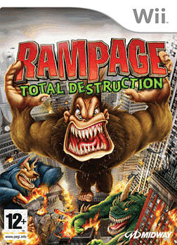 Rampage: Total Destruction Wii Cover Art