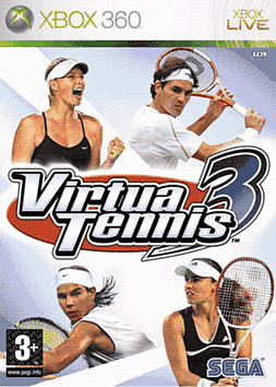 Virtua Tennis 3 Xbox 360 Cover Art