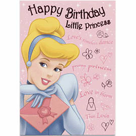 Disney Princess Birthday Card Gifts 