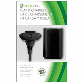 Official Xbox 360 Play and Charge Kit - Black Accessories