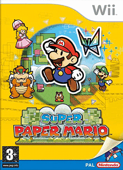 Super Paper Mario Wii Cover Art