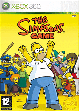 The Simpsons Xbox 360 Cover Art